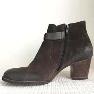 1c082a183d95a Paul Green Shoes - Paul Green 6.5 / US 9 Ankle Booties Brown Suede